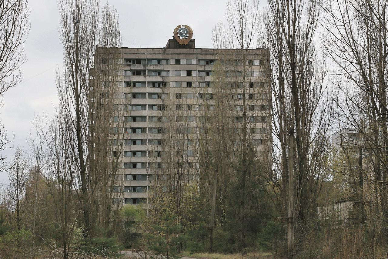 原発城下町として多くのマンションが建てられていた